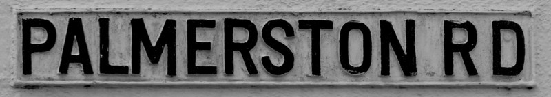 Cast Iron Sign, Palmerston Road, Northampton