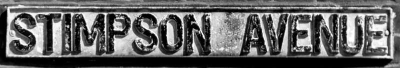Cast Iron sgn, Stimson Avenue, Northampton