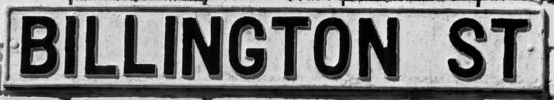 Cast Iron sgn, Billington Strret, Northampton