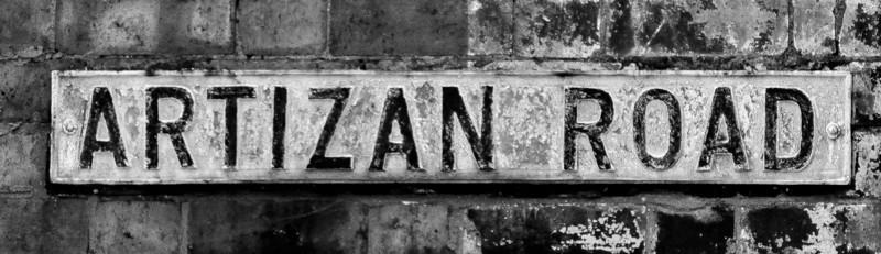 Cast Iron Sign, Artizan Road, Northampton
