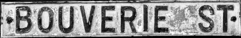 Cast Tron Sign, Boverie Street, Northampton