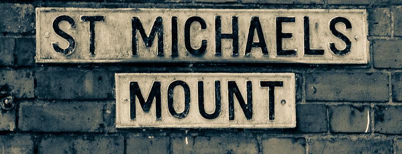 Cast Iron Sign, St Michael's Mount, Northampton