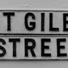 St Giles Street, cast iron sign,  Northampton