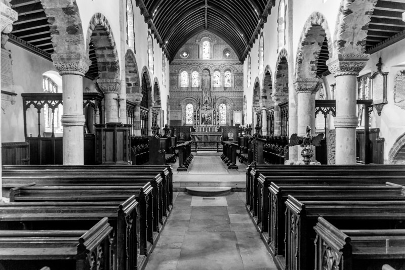 View of the chancel, St Peter's Church, Black Lion Hill, Northampton