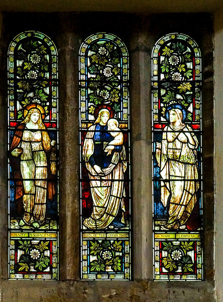 Stained glass window, St Peter's Church, Black Lion Hill, Northampton