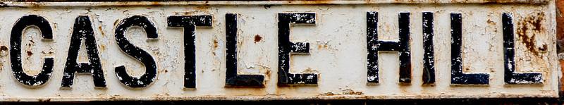 Castle Hill, Cast Iron Sign, Northampton