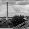 Express lift tower from Castle Hill, Northampton
