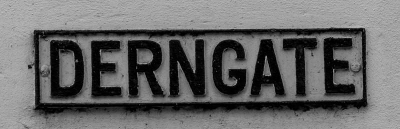 Cast Iron Sign, Derngate. Northampton