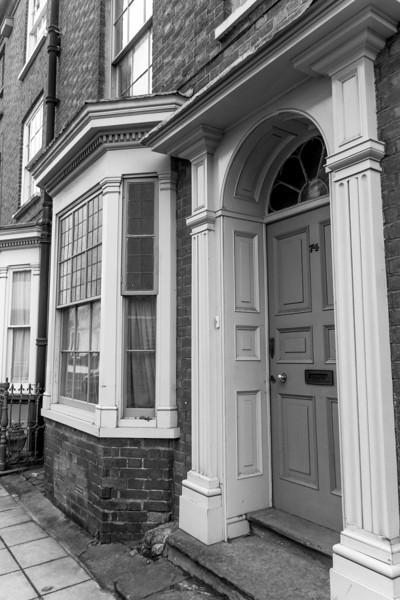 Door case, 74 Derngate. Northampton