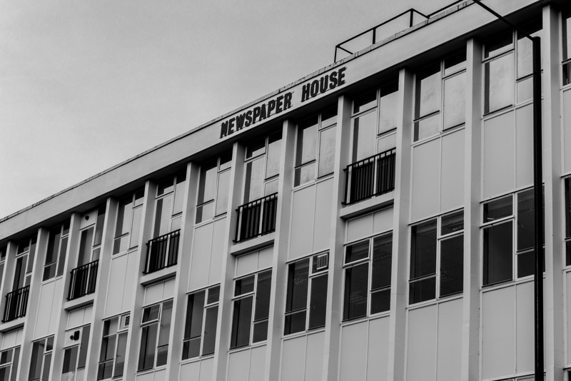 Newspaper House (former Post Office sorting office), Derngate. Northampton