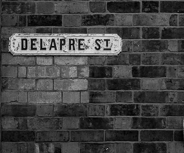 Cast Iron Street Sign, Delapre Street,  Northampton