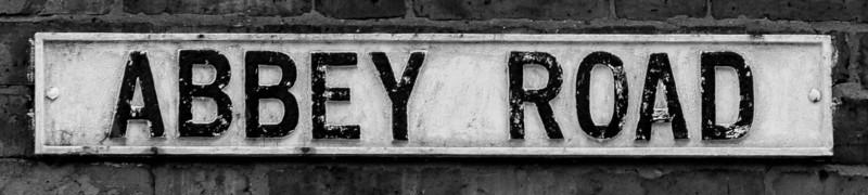 Cast iron sign, Abbey Road, Far Cotton, Northampton