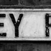 Cast iron sign, Abbey Road, Far Cotton, Northampton