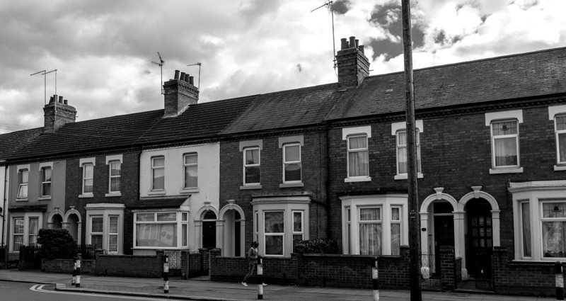 Bay fronted terrace houses, Far Cotton, Northampton