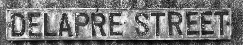 Cast Iron Sign, Delapre Street, Far Cotton, Northampton