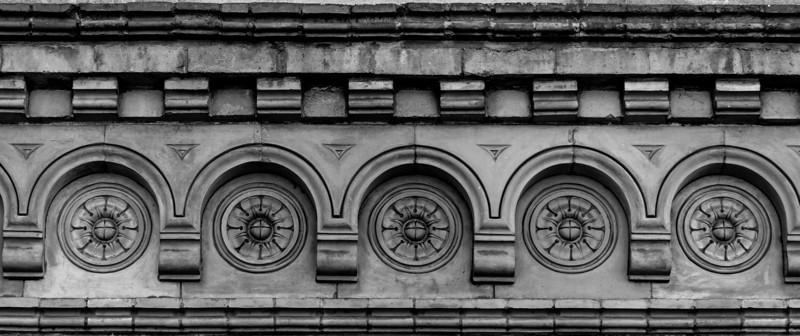 Carved brickwork Northampton Gas Light, Northampton
