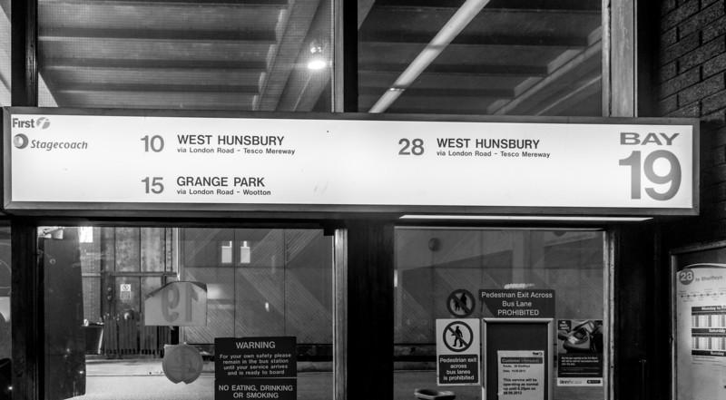 Bay 19, Greyfriars Bus Station, Northampton, May  18 2013