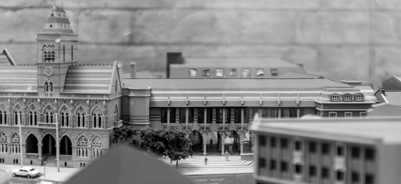 Guildhall extention model, Guildhall, Northampton