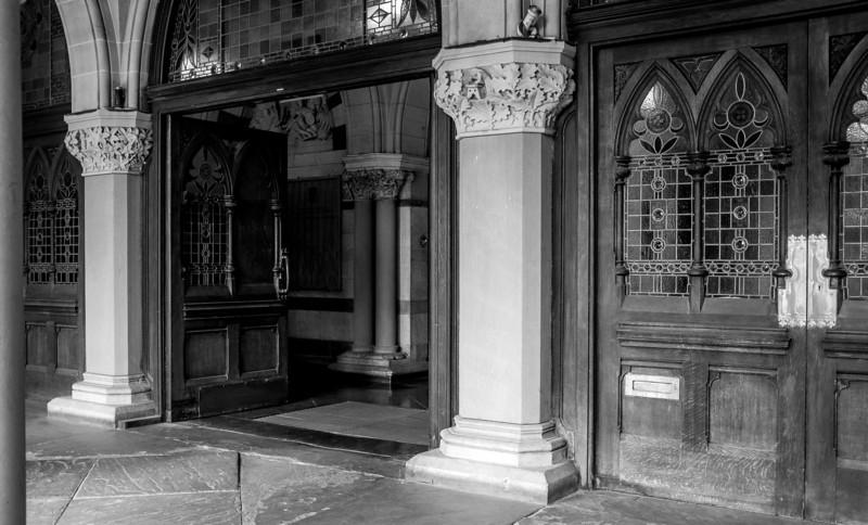 Main doorcase, Guildhall, Northampton