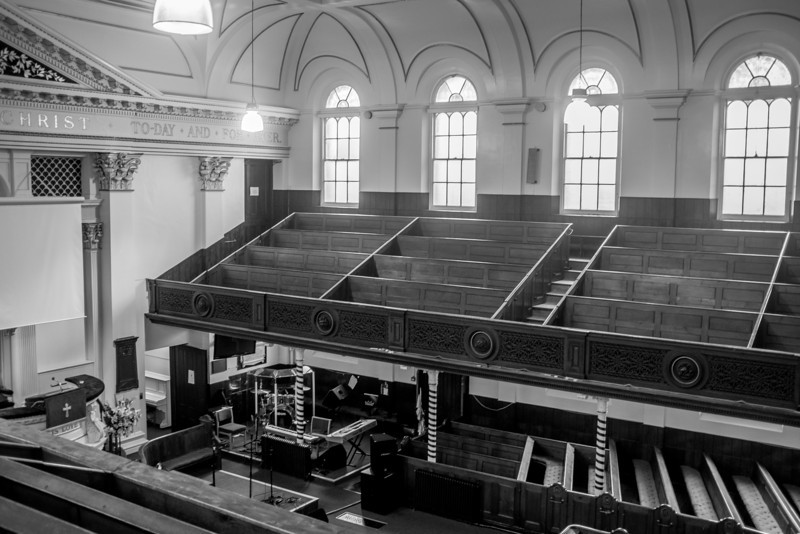 View from the gallery, College Street Baptist Church,  Northampton