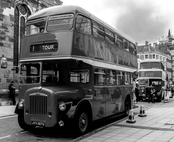JVV 287G, Daimler Northampton Corportaion bus, George Row, Northampton