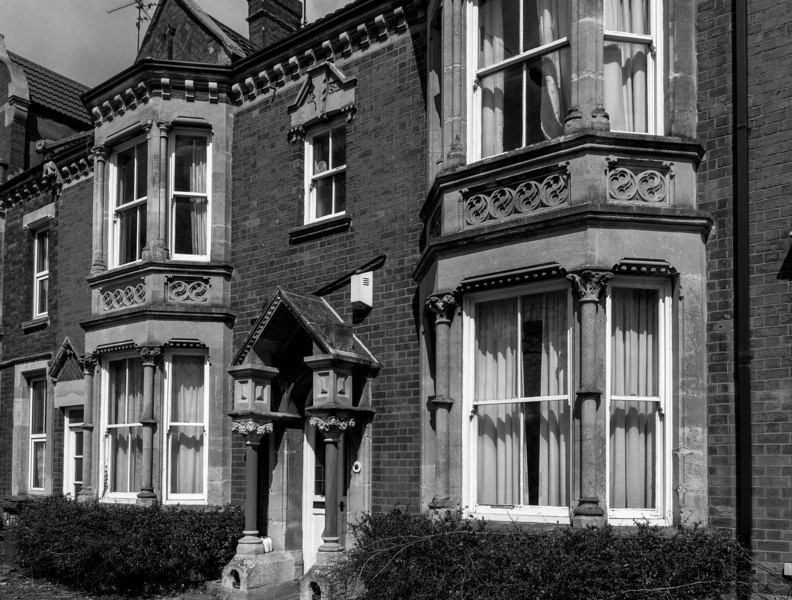 Double fronted with stone gothic doorcase, Kingsley Road, Northampton