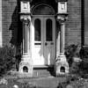 path and stone gothic doorcase, Kingsley Road, Northampton