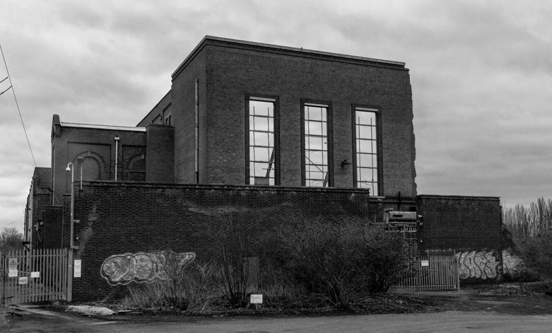 Front view, Nunn Mills Power Station, Northampton