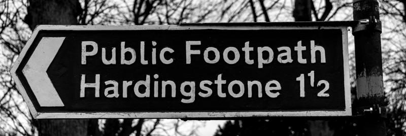 Footpath to Hardingstone,  Nunn Mills, Northampton