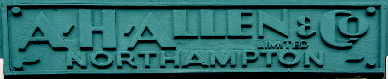 AH Allen sluce, Nunn Mills, Northampton