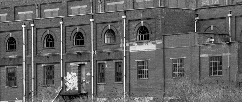 Brickwork, Nunn Mills Power Station, Northampton