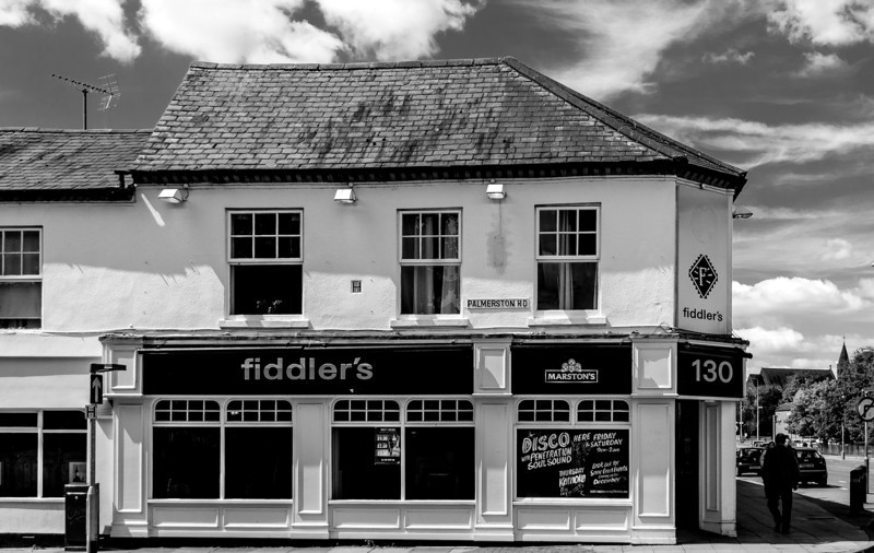 Fidler Maguire's (fomerly several shops), Wellingborough Road, Northampton  25 May 2013