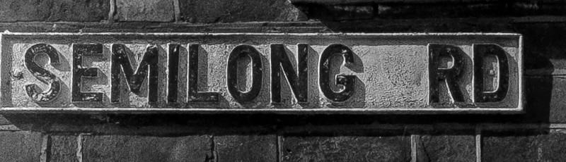 Cast iron sign, Semilong Road, Semilong, Northampton