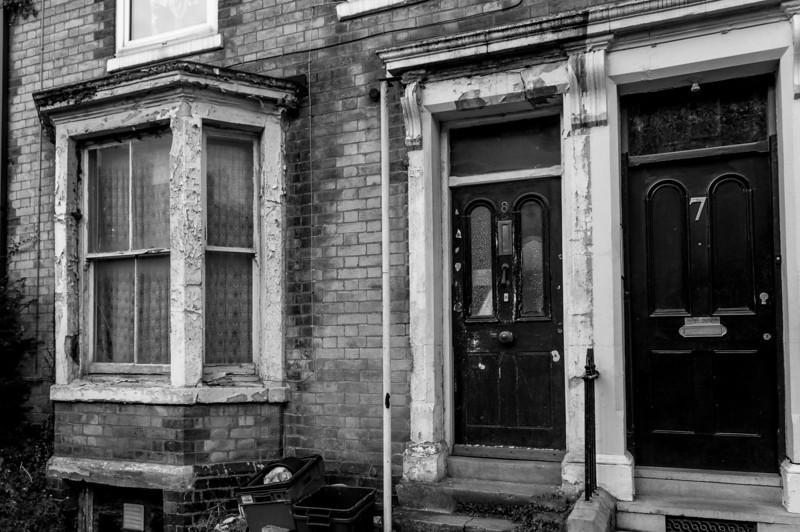 Original doors and windows, Hester Street, Semilong, Northampton