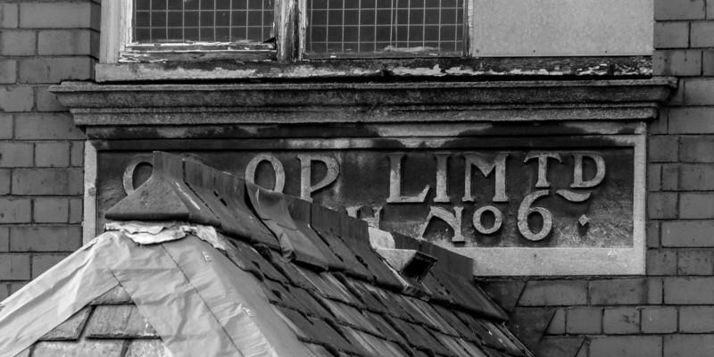 Sign, Co-op, from  Hester Street, Semilong Northampton 2