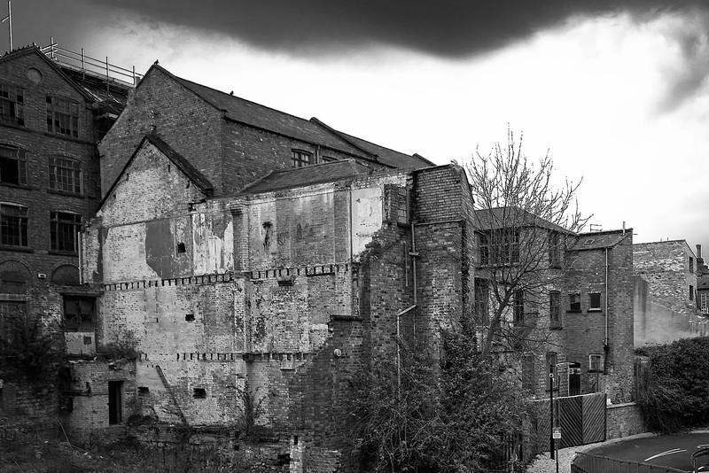 Shoe factories, rear view, Northampton