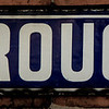 Marlborough Road enamel sign, St James, Northampton
