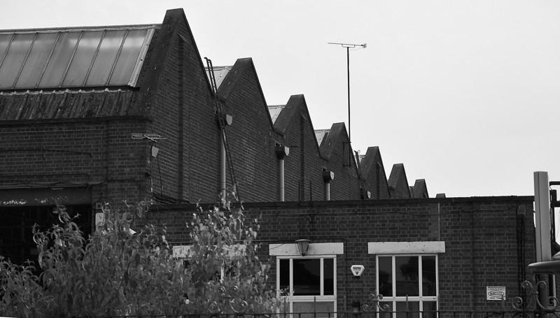 Tram depot roof