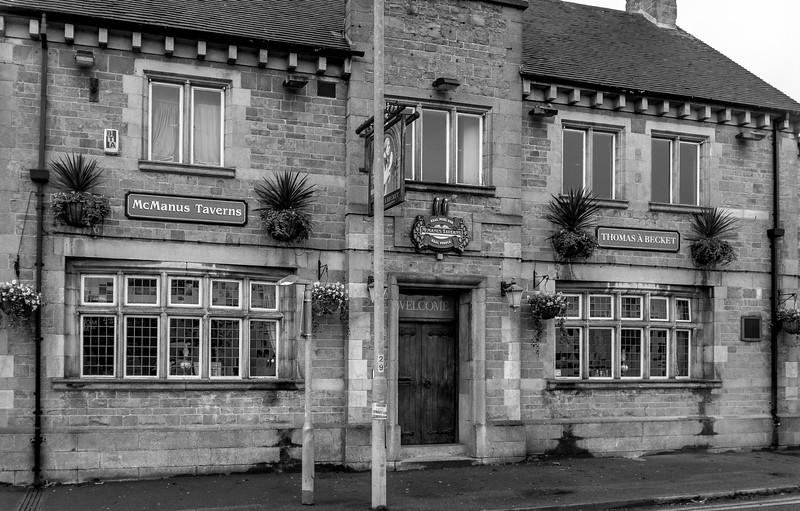 Northampton at dawn- Thomas a Becket, Saint James' Road