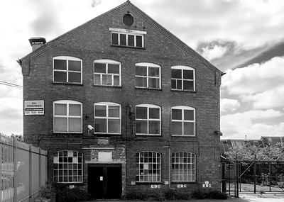 North facade, Barker's Boot and Shoe Factory, Countess Road, Northampton