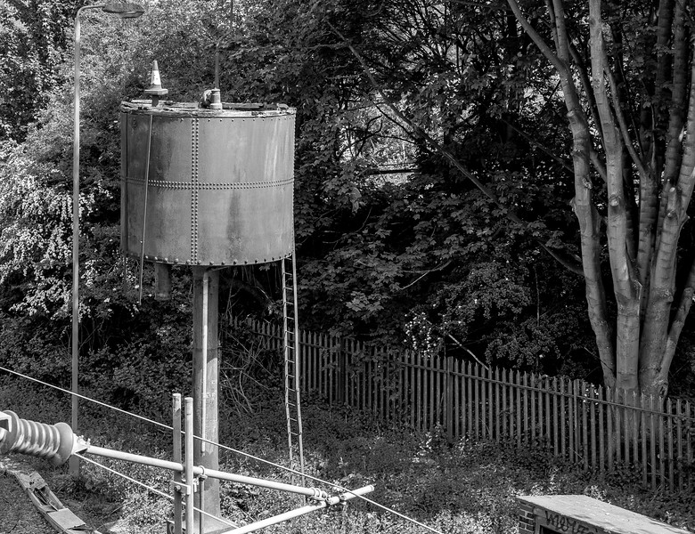 Water tower, a relic from the days of steam from Spencer Bridge Road, Northampton