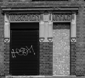 Entrance, Barker's Boot and Shoe Factory, Countess Road, Northampton