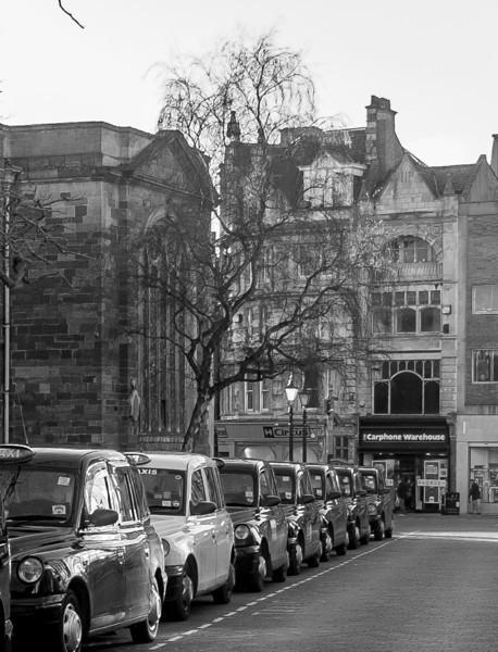 Taxi Rank, Mercers Row, Northampton
