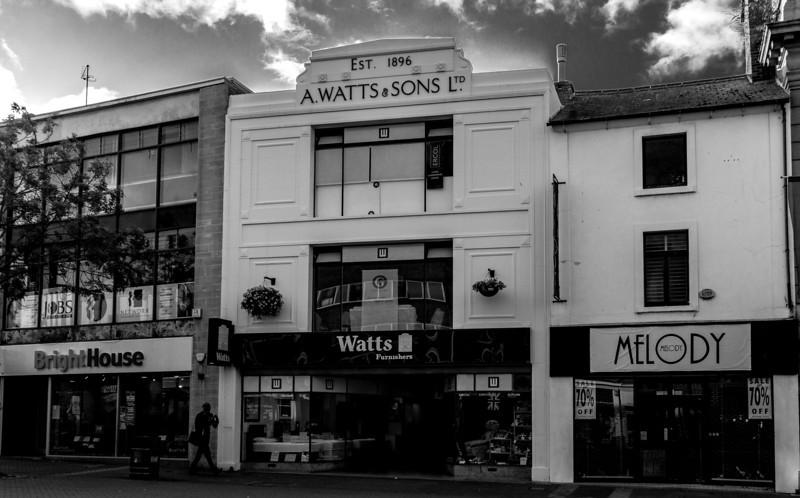 A Watts and Son, Abington Street,  Northampton