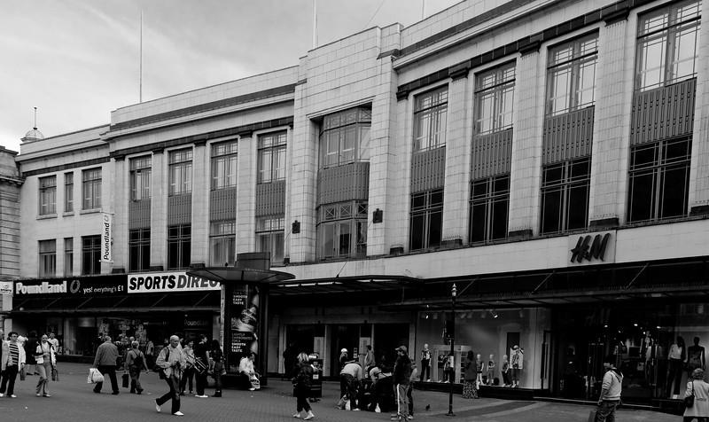 co-operative building, Northampton<br /> Now just a façade hiding modern shops.