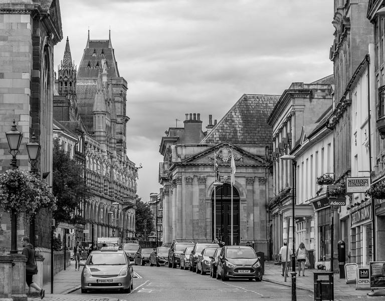 View down  George Row,  Northampton