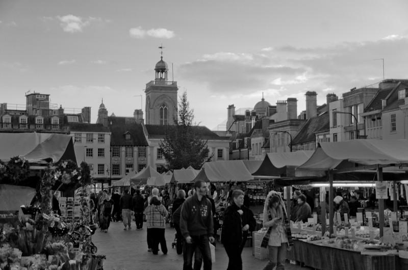 Market Square, Christmas 2011, Northampton