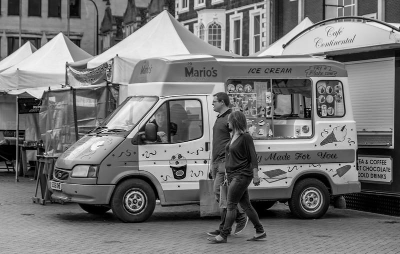 Mario's Ice Cream Van, Market square, Northampton_