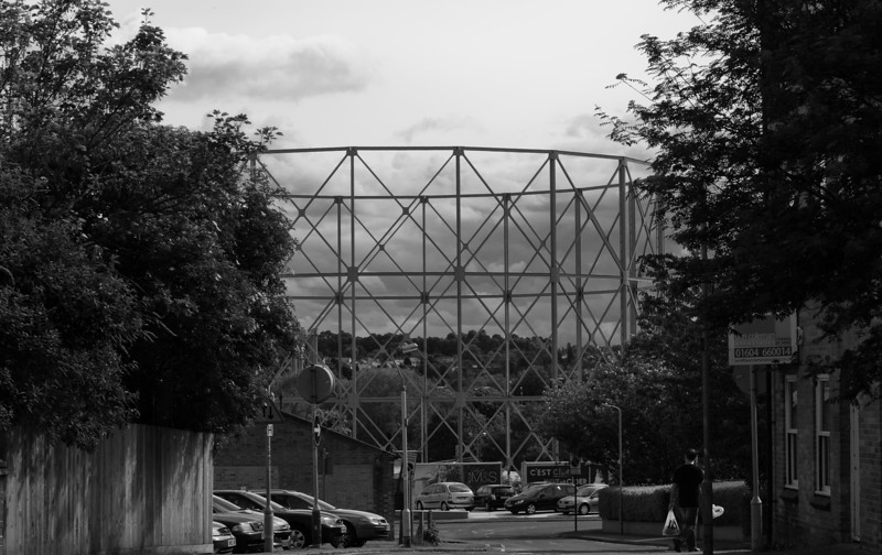 One of two surviving Gas Holders, Gas Street, Northampton