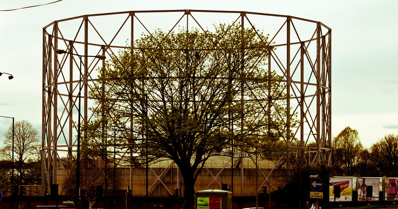 Gas Holder number 2 from back a bit, Northampton